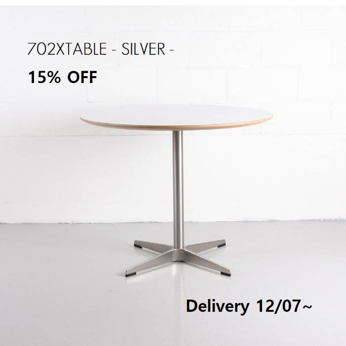 702X TABLE -SILVER-